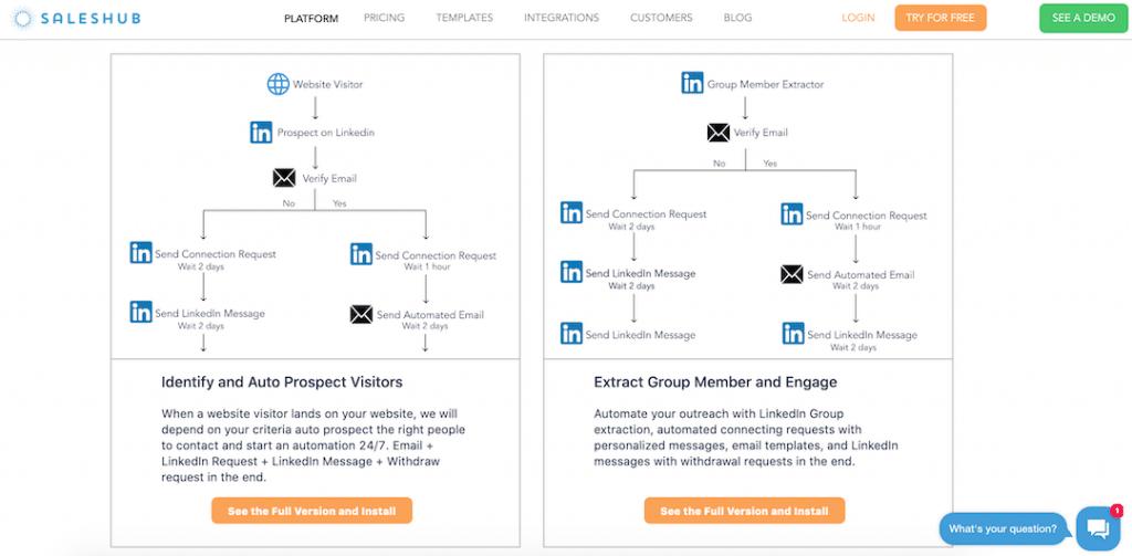 Saleshub Email LinkedIn Templates