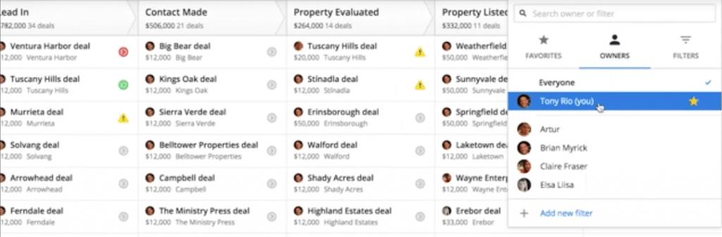 Screenshot of Pipedrive CRM