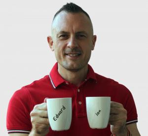 Image Personalization on Coffee Mug Photo